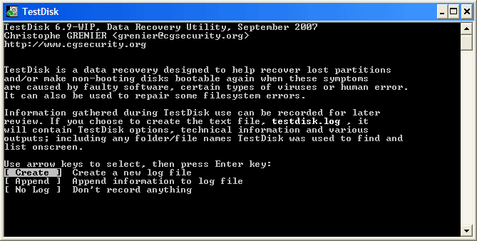 Testdisk Step By Step Cgsecurity